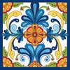 12x12 Tile Mural Blue Talavera Design