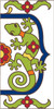 3x6 Tile House Number White Talevera Gecko Right End 3065AR