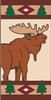 3x6 Tile Lodge Elk Left