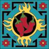 6x6 Tile Zia Flaming Chilis 8188A