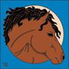 6x6 Tile Bay Horse 7910A