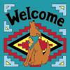 6x6 Tile Welcome Coyote Turquoise