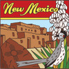 6x6 Tile New Mexico State Symbols 7429A