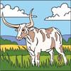 Longhorn in Prairie