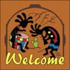 6x6 Tile Welcome Koko Musicians Terracotta 7956R