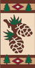 3x6 Tile Lodge Pine Cones Left
