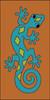 3x6 Tile Southwest Gecko Tera Cotta