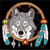 6x6 Tile Wolf Dreamcatcher 7873A