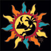 6x6 Tile Southwest Sun with Kokopelli 8343A