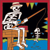 6x6 Tile Day of the Dead Gone Fishin 7454A
