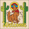 6x6 Tile Welcome Coyote Sand 7945A