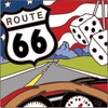 6x6 Tile Route 66 Dashboard Fuzzy Dice