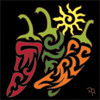 6x6 Tile Tribal Chili Peppers 8224A