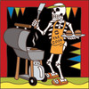 6x6 Tile Day of the Dead Barbecue