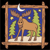 6x6 Tile Starry Night Moose