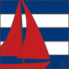 6x6 Tile Nautical Sailboat 8079A