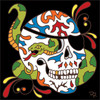 6x6 Tile Day of the Dead Pirate Skull