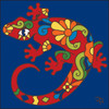 6x6 Tile Talavera Lizard Cobalt 7829C