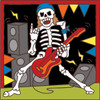 6x6 Tile Day of the Dead Guitar Rocker 7850A