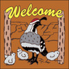 6x6 Tile Welcome Quail & Babies Terracotta 7942R