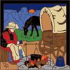 6x6 Tile Cowboy Campfire 7882A
