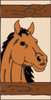 3x6 Tile Western Horse Left