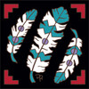 6x6 Tile Native American Three Feathers