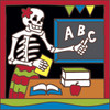 6x6 Tile Day of the Dead Teacher