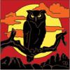 6x6 Tile Owl Sunset Silhouette 8061A