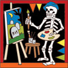 6x6 Tile Day of the Dead Painter 7736A
