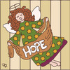 6x6 Tile Hope Angel 7713A