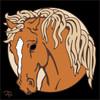 6x6 Tile Palomino Horse 7912A