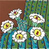 """6X6 Tile Saguaro Blooms """"Naturals"""""""