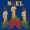 6x6 Tile Noel Candles and Holly