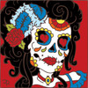 6x6 Tile Day of the Dead Saloon Gal Sugar Skull 7888A