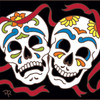 6x6 Tile Day of the Dead Comedy/Tragedy 8318A