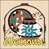6x6 Tile Welcome Pottery Sand 7959A