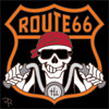 6x6 Tile Day of the Dead Route 66 Biker