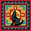 6x6 Tile Native American Coyote Design