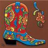 """6X6 Tile Talavera Boot """"Naturals"""""""