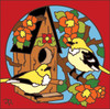 6x6 Tile Bird House/ Blossoms 7980A