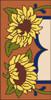 3x6 Tile Garden Sunflower Left