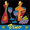 6x6 Tile Abstract Vino