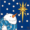 6x6 Tile Star Bright Snowman