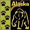 6x6 Tile Alaska Bear Silhouette 7540A