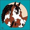 6x6 Tile Paint Horse 7911A
