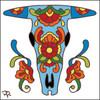 6x6 Tile Talavera Skull White 8010W