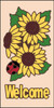 3x6 Tile Sunflower w/LadyBug