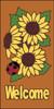 3x6 Tile Sunflower/Ladybug