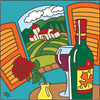 6X6 Tile Wine with a View 7665A